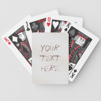 Tarjetas de la pared de la pintada barajas de cartas