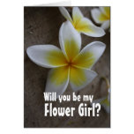 Tarjetas de la petición del florista del boda del