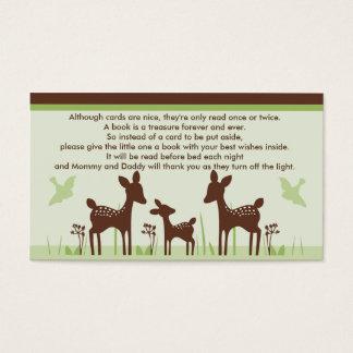 Tarjetas de la petición del libro de la fiesta de tarjetas de visita