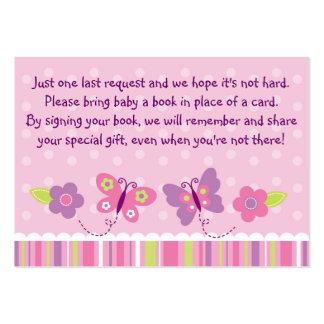 Tarjetas de la petición del libro de la fiesta de tarjetas de visita grandes