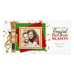 Tarjetas de la plantilla de la foto del navidad de tarjeta personal