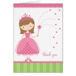 Tarjetas de la princesa nota