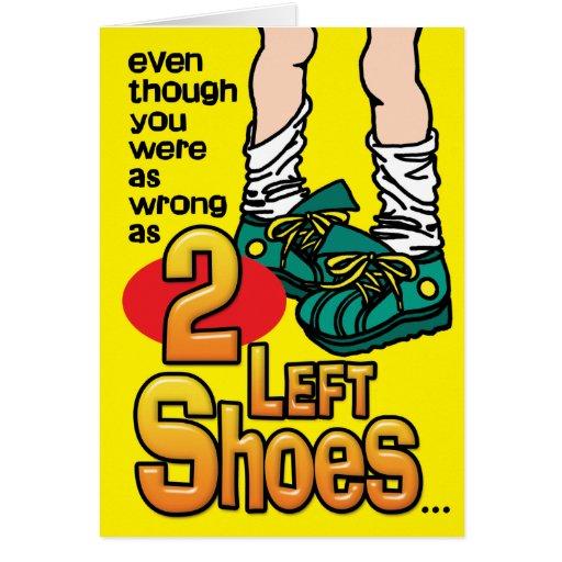 Tarjetas de la prisión - 2 zapatos izquierdos