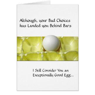 Tarjetas de la prisión - buen huevo