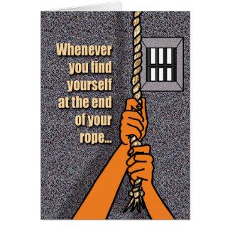 Tarjetas de la prisión - extremo de la cuerda