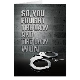 Tarjetas de la prisión - ley ganada