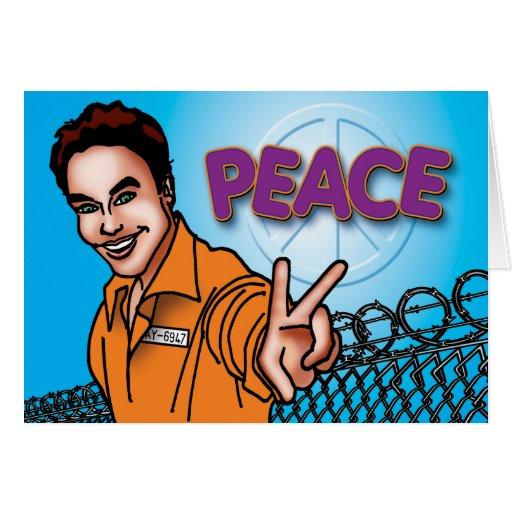 Tarjetas de la prisión - paz