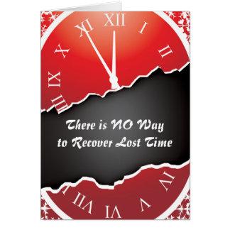 Tarjetas de la prisión - recuperación de tiempo
