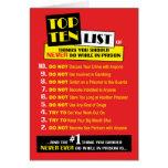 Tarjetas de la prisión - Top Ten
