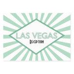 Tarjetas de la recepción de la carpa de Las Vegas Tarjetas De Visita
