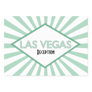 Tarjetas de la recepción de la carpa de Las Vegas Tarjetas De Visita Grandes