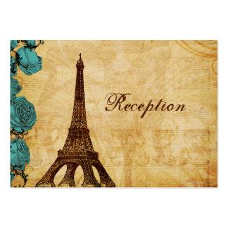 tarjetas de la recepción de París de la torre Tarjeta De Negocio