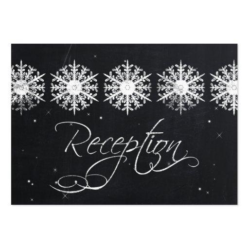 tarjetas de la recepción del invierno de la pizarr tarjetas personales