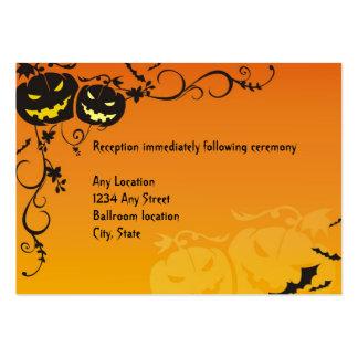 Tarjetas de la recepción nupcial de Halloween Tarjetas De Visita Grandes