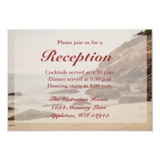 Tarjetas de la recepción nupcial de la playa - anuncios personalizados