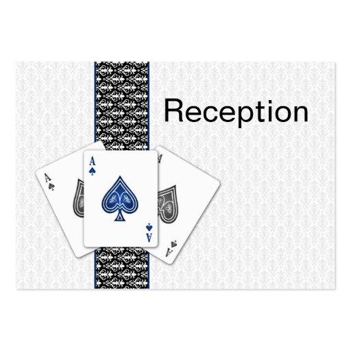 Tarjetas de la recepción nupcial de Las Vegas Plantillas De Tarjeta De Negocio