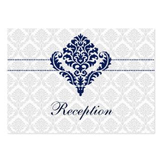 tarjetas de la recepción nupcial del damasco de tarjetas de visita grandes