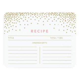 """Tarjetas de la receta de la ducha el   del confeti invitación 4.25"""" x 5.5"""""""