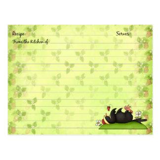 Tarjetas de la receta de la fresa tarjeta postal