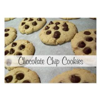 Tarjetas de la receta de las galletas de microproc plantillas de tarjeta de negocio