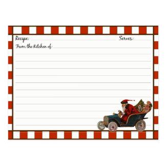 Tarjetas de la receta del día de fiesta del navida tarjetas postales