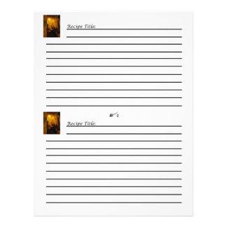 """Tarjetas de la receta del libro de cocina del Viej Folleto 8.5"""" X 11"""""""