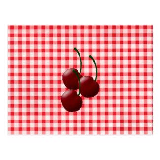 Tarjetas de la receta del manojo de la cereza postal