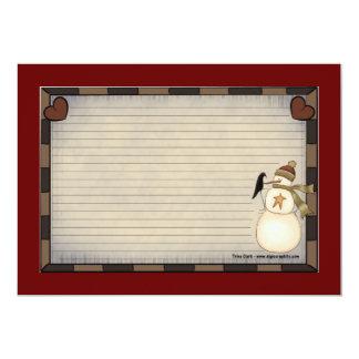 """Tarjetas de la receta del navidad del país invitación 5"""" x 7"""""""