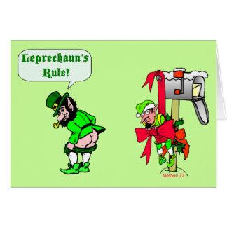 Tarjetas de la regla de los Leprechauns