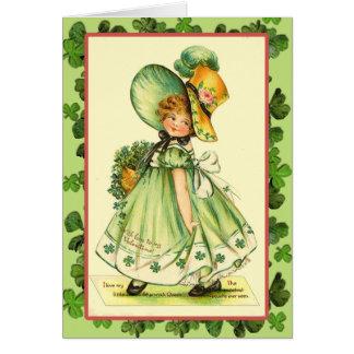 Tarjetas de la reina del trébol del día de St Patr