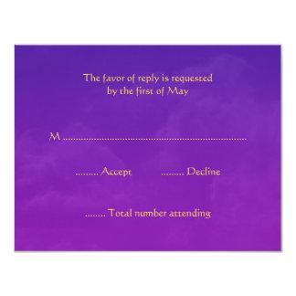 """Tarjetas de la respuesta de RSVP de las noches Invitación 4.25"""" X 5.5"""""""