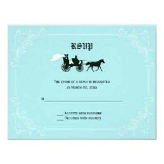 """Tarjetas de la respuesta de RSVP del caballo y del Invitación 4.25"""" X 5.5"""""""