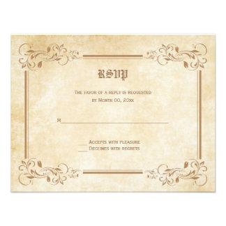 Tarjetas de la respuesta de RSVP del cuento de had Invitación Personalizada