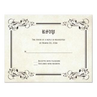 Tarjetas de la respuesta de RSVP del cuento de Invitación 10,8 X 13,9 Cm