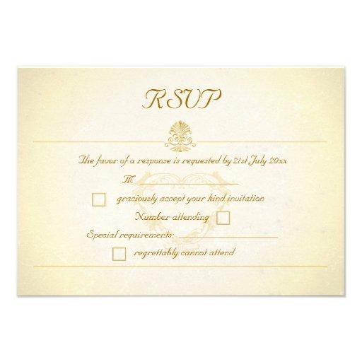 Tarjetas de la respuesta de RSVP del estilo del pa Invitaciones Personales