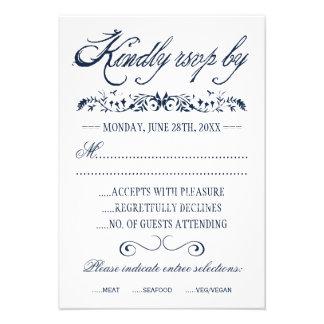 Tarjetas de la respuesta del boda de la acuarela