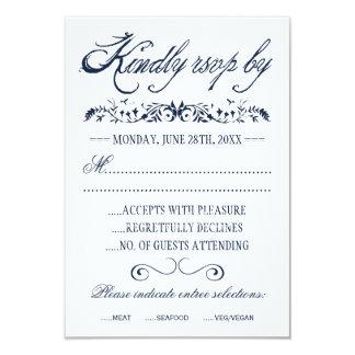 Tarjetas de la respuesta del boda de la acuarela invitación personalizada