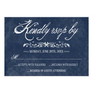 Tarjetas de la respuesta del boda de la acuarela anuncio personalizado
