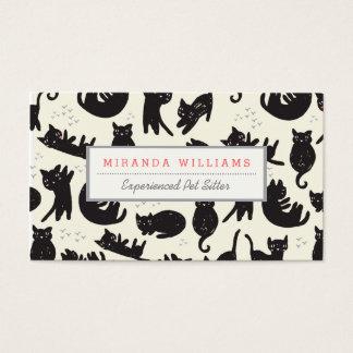 Tarjetas de la señora visita del gato tarjetas de visita