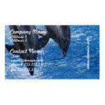 Tarjetas de la show business del delfín plantilla de tarjeta de visita