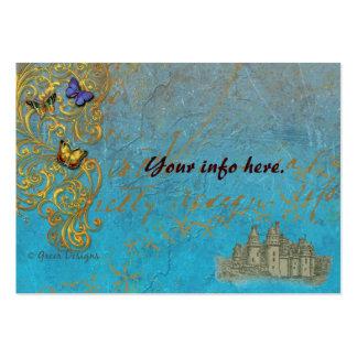 Tarjetas de la tabla de las tarjetas de visita del