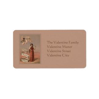 Tarjetas de la tarjeta del día de San Valentín de  Etiquetas De Dirección