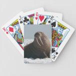 Tarjetas de la vaca de la morsa de Alaska Baraja Cartas De Poker