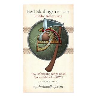Tarjetas de la visita de Viking Plantillas De Tarjetas Personales