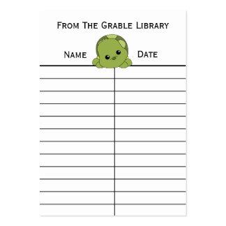 Tarjetas de la vuelta del libro de la tortuga de L Tarjetas De Visita