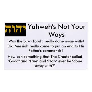 Tarjetas de la zona de Torah Tarjetas De Visita