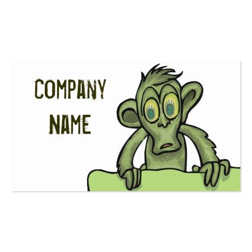 Tarjetas de las estupideces del zombi plantillas de tarjeta de negocio
