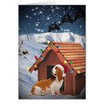 Tarjetas de las Felices Navidad de Basset Hound
