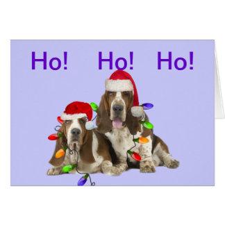 Tarjetas de las Felices Navidad de los perros de a