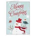 Tarjetas de las Felices Navidad del muñeco de niev